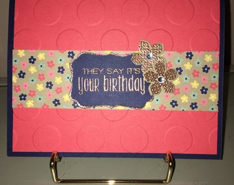 Hand stamped ©Stampin' Up! Birthday card
