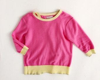 Split Back Bubble Gum Pink jumper