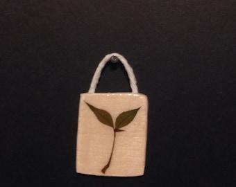 Pressed Leaf on Wood 7