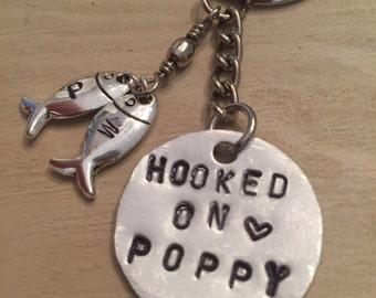 Hooked on poppy keychain
