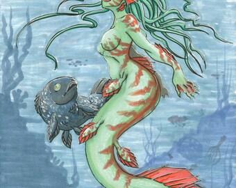 Lrg Mermaid Print