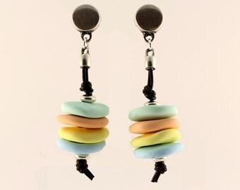 Pastel-colored earrings
