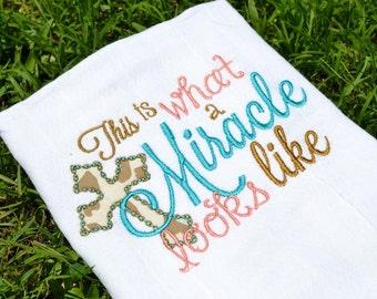 Baby Burp Cloth // Embroidered Burp Cloth // Monogrammed Burp Cloth // Burp Rag // Baby Shower Gift // Baby Girl Burp Cloth // Spit Rag