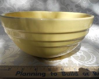 Yellow stoneware bowl