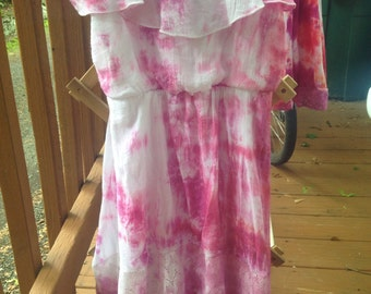 Pink and purple tie-dye dress