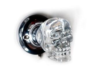 Crystal Skull Door Knob