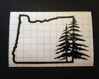 Oregon Pine Tree (all weather) decal