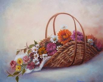 Colorful Flower Basket