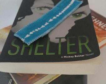 Beautiful Blue Bookmark