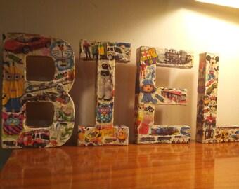 Letters or names custom (10 cm high)