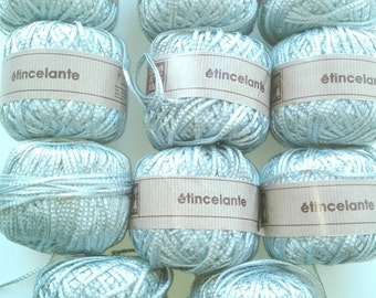 Grey yarn, shiny yarn, cotton yarn, yarn lot, cheap yarn, viscose yarn, medium yarn, worsted yarn, afgan yarn, ribbon yarn, textured yarn