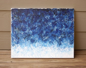 """Blue Abstract 16""""x20"""" Canvas"""