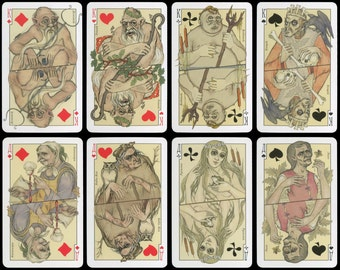 """Playing cards """"Unsavory Characters in Russian Mythology and Folk Tales"""""""