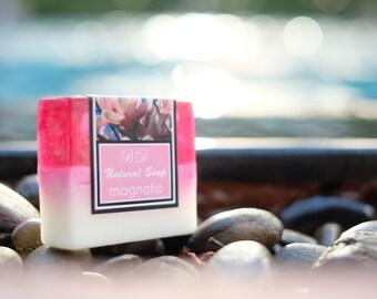 Magnolia Soap - Handmade Soap, Glycerin Soap, Handcrafted Soap, Natural Soap