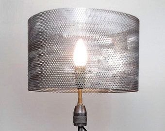Metal shade_Industrial metal shade_Lamp shade_Metal_Round shade_Lightning_Light_Lamp_Steampunk shade_Steampunk_Metallic shade