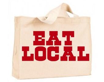 eat local farmers market bag grocery bag