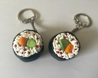 Handmade Polymer Clay Sushi Keychains
