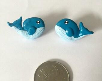 Blue Whale Cute Handmade Earrings