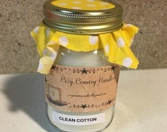 Clean Cotton 16 oz candle
