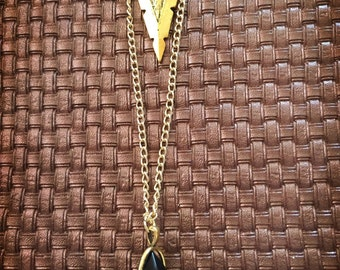 Double layered Black Crystal Necklace