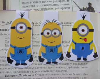 Minion magnetic Bookmark, Magnetic bookmark