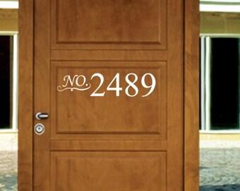 Front Door Address House Numbers Vinyl Decal - Mailbox house address # Vinyl Decal - Wall Vinyl Decal - Home Decor  - customize Vinyl Decal