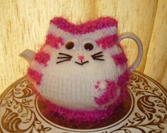 Handmade Knitted Bagpuss Tea Cosy/Cozy