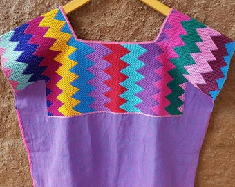Hand woven and embroidered Top!