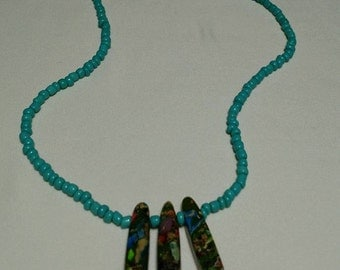 Turquoise Bohemian Necklace #54