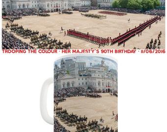 Queen Elizabeth II Trooping The Colour 2016 Ceramic Funny Mug