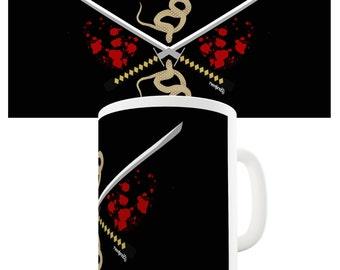 Samurai Snake Katana Ceramic Tea Mug