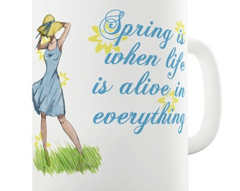Spring Breeze Ceramic Novelty Mug