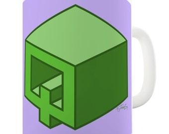 Letter Q Alphabet Ceramic Tea Mug