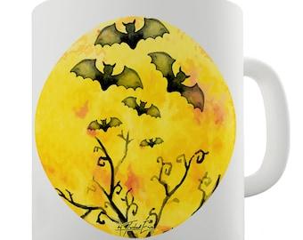 Bats Flying In The Moonlight Ceramic Novelty Mug