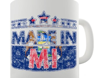 Made In MI Michigan Ceramic Mug