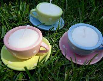 Tiny Teacup Candles