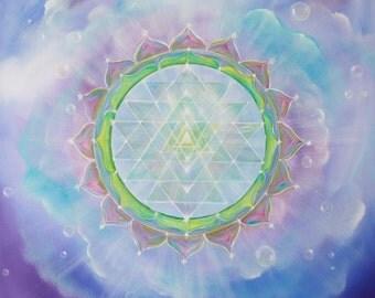 Abundance Sri Yantra Art Print, Spiritual Art, Meditation, Wall Art, Spirituality, Yoga