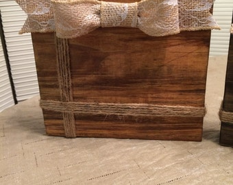 Wood Block Picture Frame