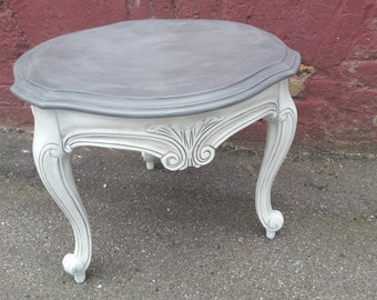 Grey and White Side Table