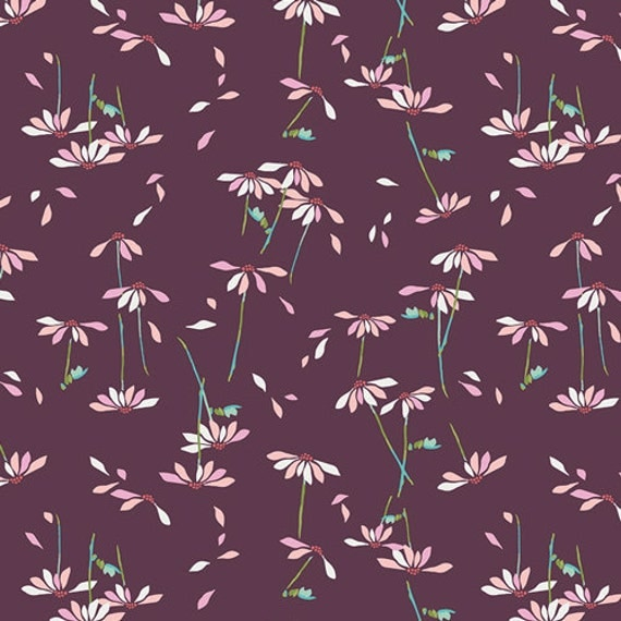 He Loves Me Plum || Playground by Amy Sinibaldi for Art Gallery Fabrics || Half or One Yard || Cotton Woven