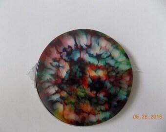 tie-dye epoxy coaster