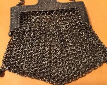 Antique silver purse