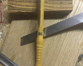 Handmade Yellowheart slimline twist pen