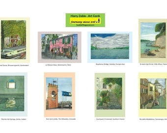 Art Cards, Greeting Cards, Australian Landscapes, European Streetscapes,