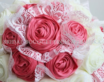 Wedding bouquet lace