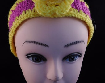 Violet Yellow Trimmed Headband