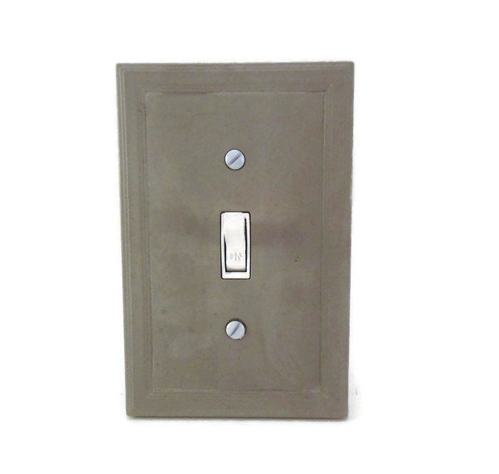 Concrete switch plate cover cement light switch cover modern