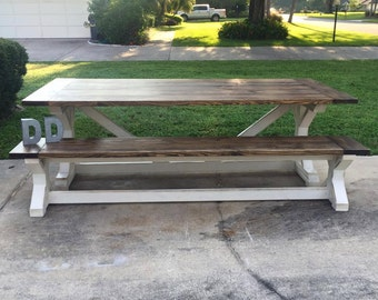 8ft X Farmhouse Table (Local Pick up/Delivery Only!)