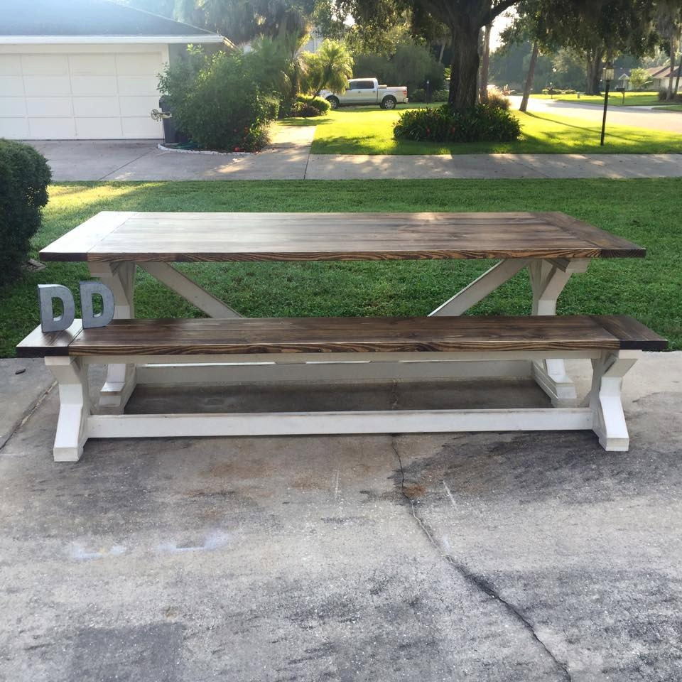 8ft X Farmhouse Table Local Pick up Delivery ly