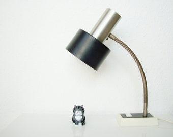 Gooseneck lamp • Black Silver • desk